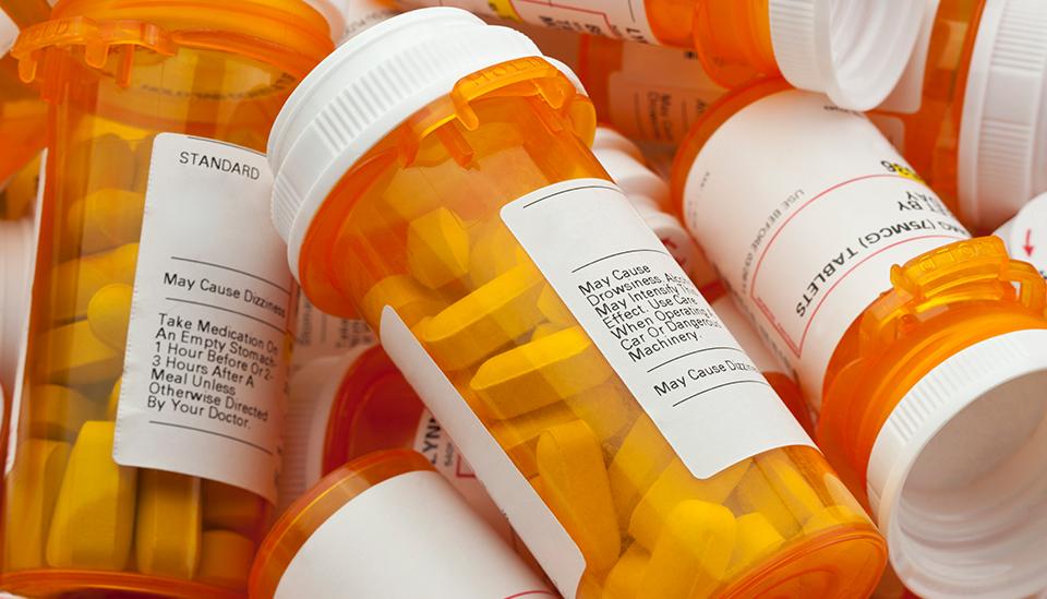 Bottles of unused medication